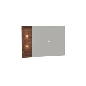 TARANKO Siena SI tv panel na stenu s osvetlením dub mocca / biela