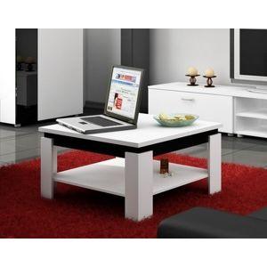 MEBLOCROSS Alfa konferenčný stolík biela / čierna