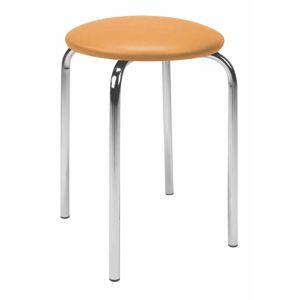 NOWY STYL Chico stolička bez operadla chrómová / oranžová (V83)
