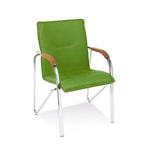 NOWY STYL Samba konferenčná stolička chrómová / zelená (V47)