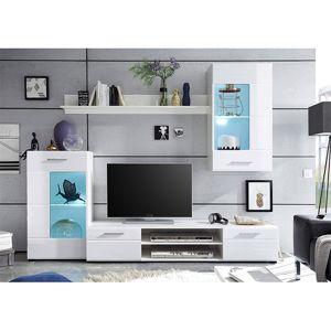 TEMPO KONDELA Henri New OS obývacia stena biela / biely lesk