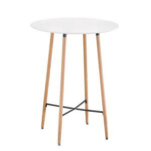 TEMPO KONDELA Imam okrúhly barový stôl biela / dub