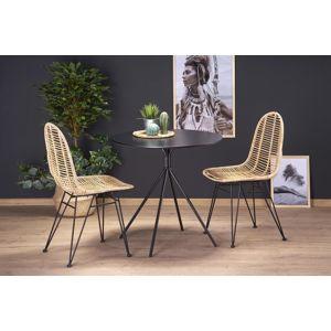 HALMAR Fondi okrúhly jedálenský stôl čierna