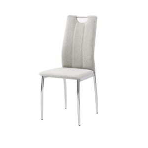 TEMPO KONDELA Oliva New jedálenská stolička béžový melír / chróm