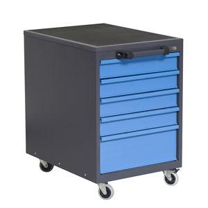 NABBI P6 mobilný kontajner k pracovnému stolu na kolieskach grafit / modrá