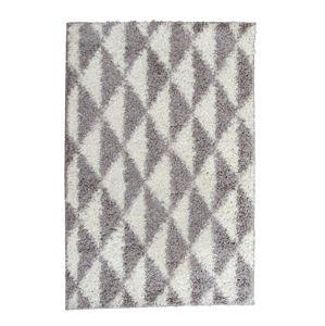 TEMPO KONDELA Pixel koberec 160x235 cm krémová / sivá