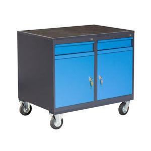 NABBI PLW01G/P2P2 dielenský vozík na kolieskach so zámkom grafit / modrá