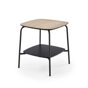 HALMAR Genua LAW1 príručný stolík prírodná / čierna