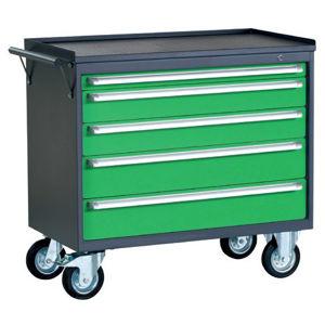 NABBI PWW01G/2L4 dielenský vozík na kollieskach so zámkom grafit / zelená