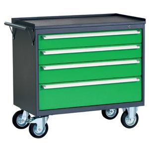 NABBI PWW01G/2L7 dielenský vozík na kolieskach so zámkom grafit / zelená