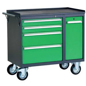 NABBI PWW01G/L6L9 dielenský vozík na kolieskach so zámkom grafit / zelená