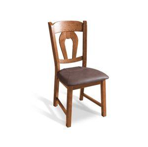 PYKA Holender jedálenská stolička drevo D9 / tmavosivá (Madras platin)