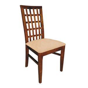PYKA Parma jedálenská stolička drevo D3 / krémová (Madras G100)