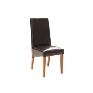 PYKA Tomi jedálenská stolička drevo D3 / tmavohnedá (Madras G300)