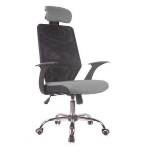 TEMPO KONDELA Reyes New kancelárska stolička čierna / sivá