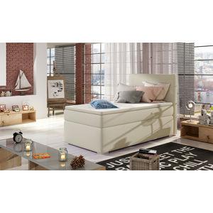 NABBI Rodrigo 90 L čalúnená jednolôžková posteľ s úložným priestorom béžová