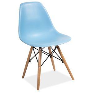 SIGNAL Enzo jedálenská stolička buk / modrá