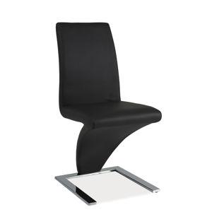 SIGNAL H-010 jedálenská stolička sivá / chróm