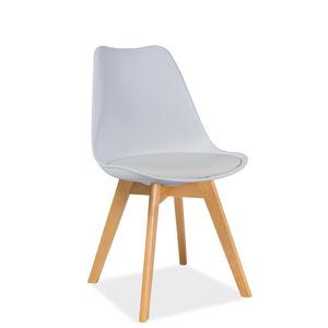 SIGNAL Kris Buk jedálenská stolička biela / buk