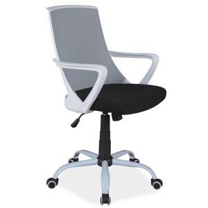 SIGNAL Q-248 kancelárska stolička s podrúčkami sivá / čierna / biela