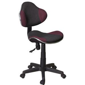 SIGNAL Q-G2 kancelárska stolička fialová / čierna