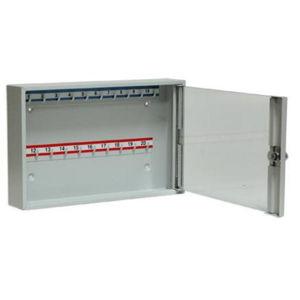 NABBI SK20/S kovová skrinka na kľúče s presklenými dverami svetlosivá