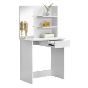 TEMPO KONDELA Beleza toaletný stolík biela