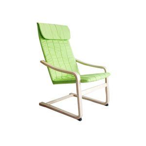TEMPO KONDELA Torsten relaxačné kreslo zelená / prírodná